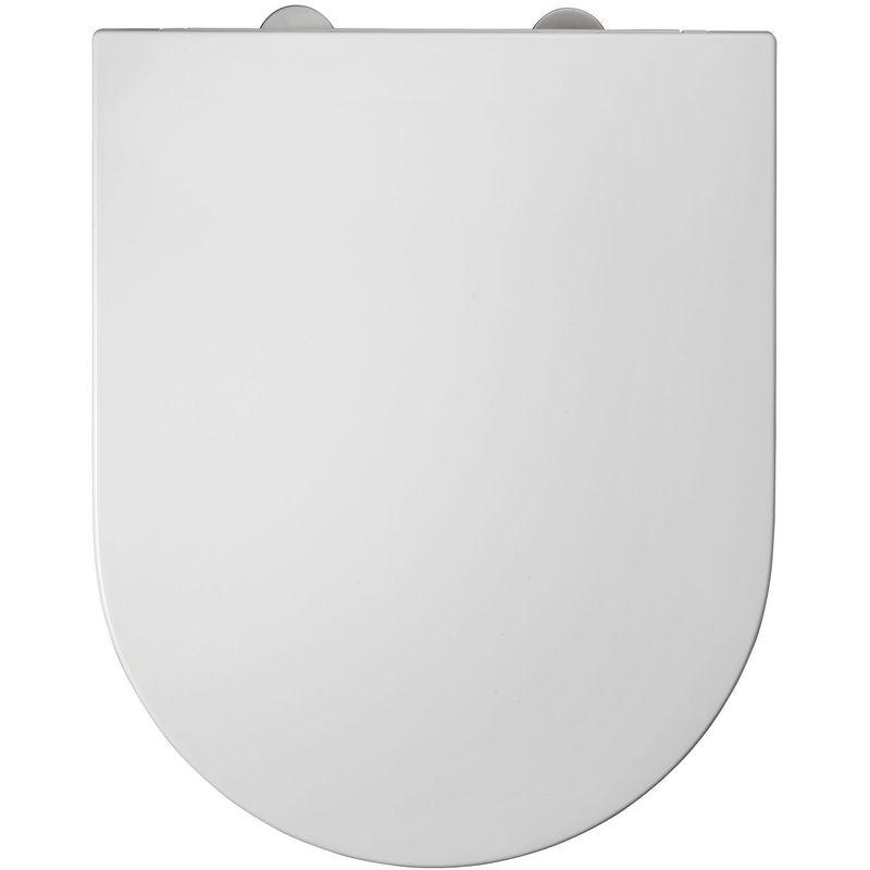 ALLIBERT Abattant WC design Duneo - Blanc - Blanc
