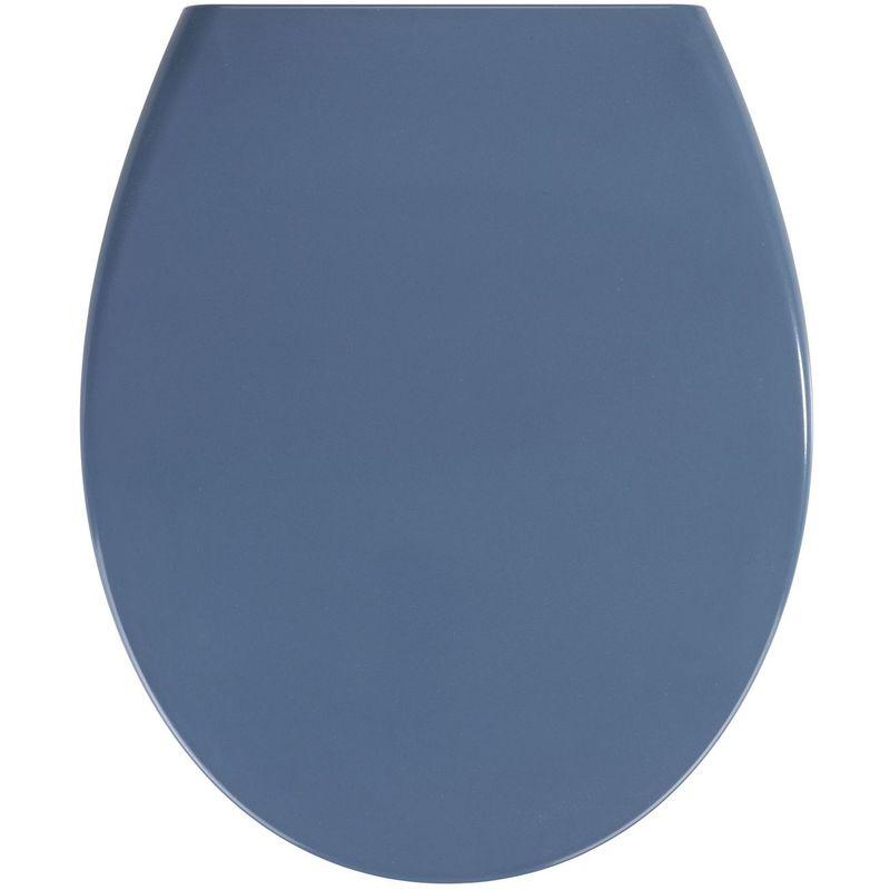 WENKO Abattant WC Samos - Abaissement automatique - Duroplastique - Bleu foncé - Bleu