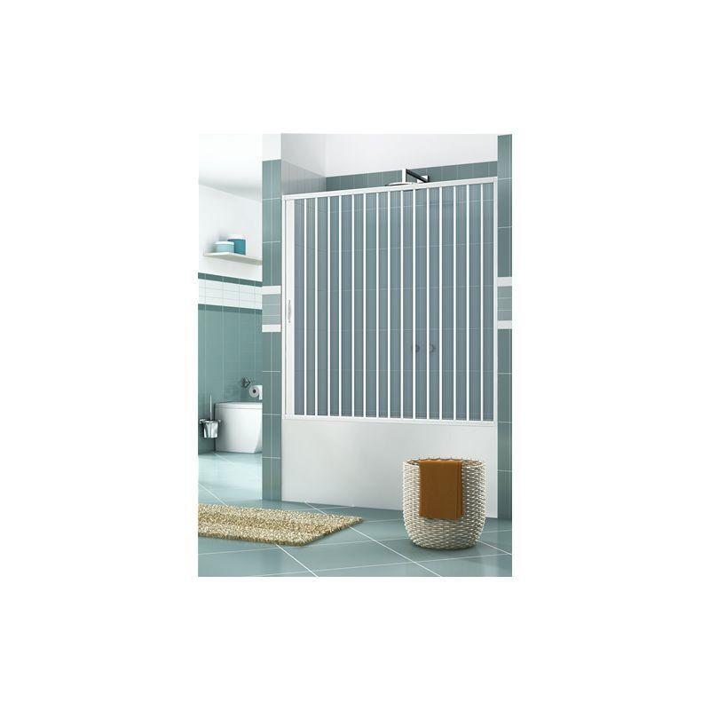 HDCASA Pare-baignoire en PVC, dim. 170 cm x H 150 cm, d'un côté, porte simple, avec