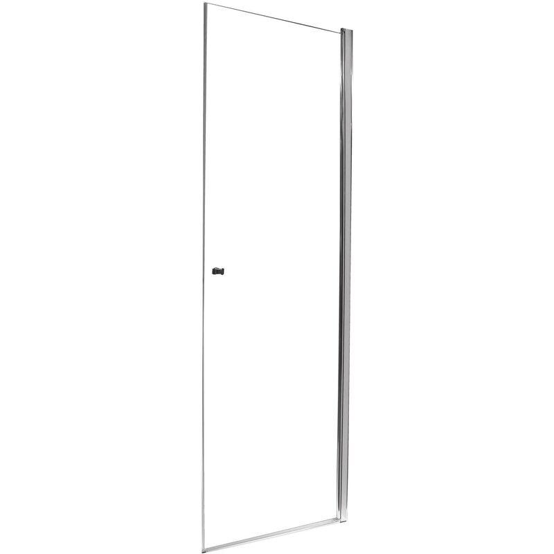 ONDEE Façade FRISCO - Portes pivotantes 80x194,5cm - Verre trempé T - Finitions chromé