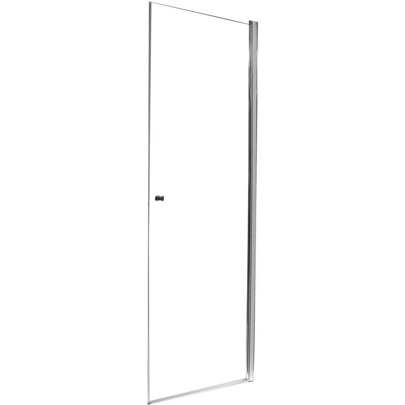 ONDEE Façade FRISCO - Portes pivotantes 90x194,5cm - Verre trempé T - Finitions chromé