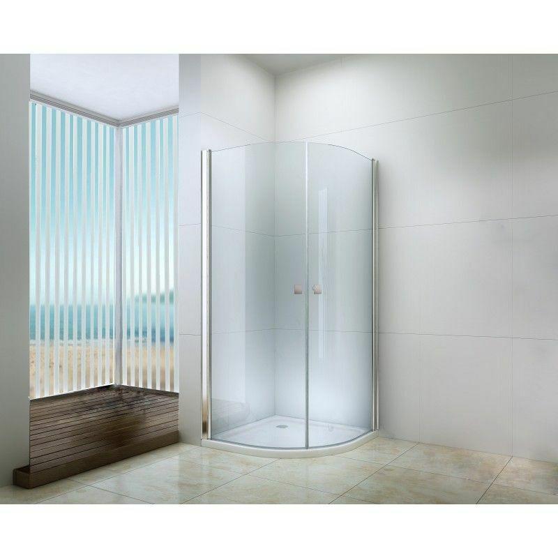 DEGEO Porte pivotante accès d'angle 1/4 cercle 90 cm transparente Frisco - Transparent