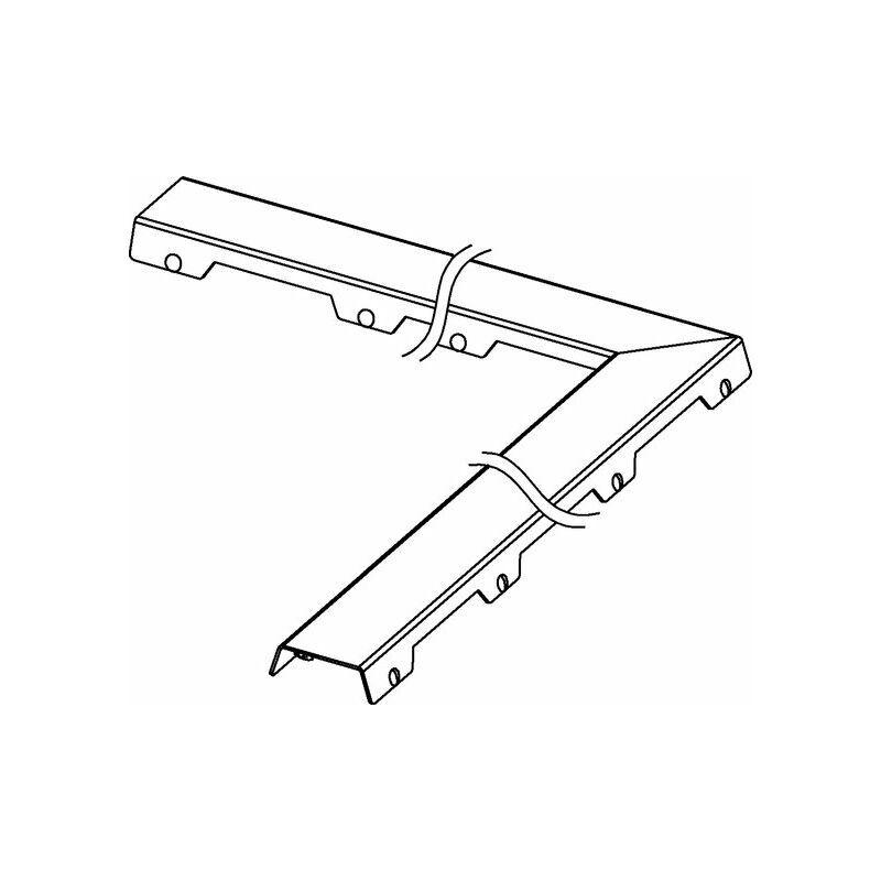 TECE Bac à carreaux TECEdrainline 'acier II' pour gouttière angulaire 90 degrés,