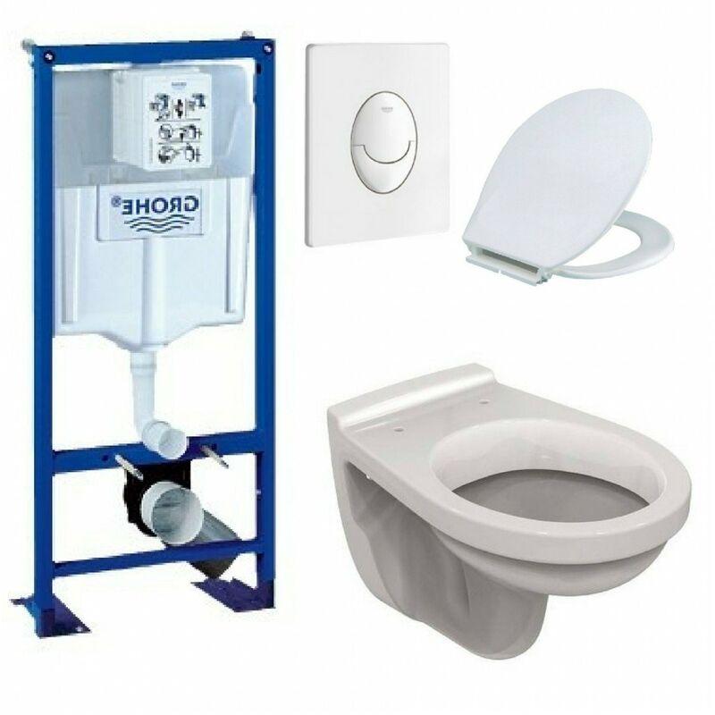 Bati support ulysse wc suspendu grohe plaque blanche