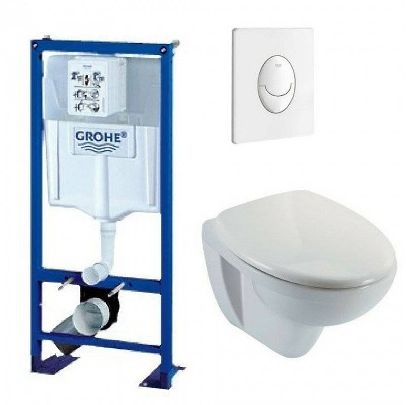 GROHE Bati support wc suspendu grohe autoportant plaque blanche first