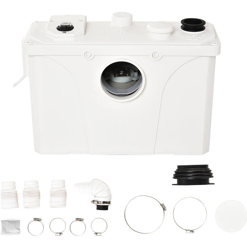 Homcom - Broyeur sanitaire WC pompe de relevage 600 W silencieux compact 4