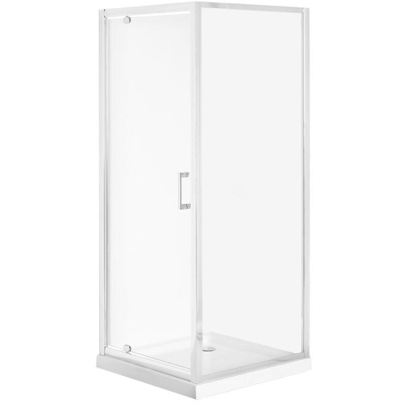 Beliani - Cabine de douche 80 x 80 x 185 cm argentée DARLI