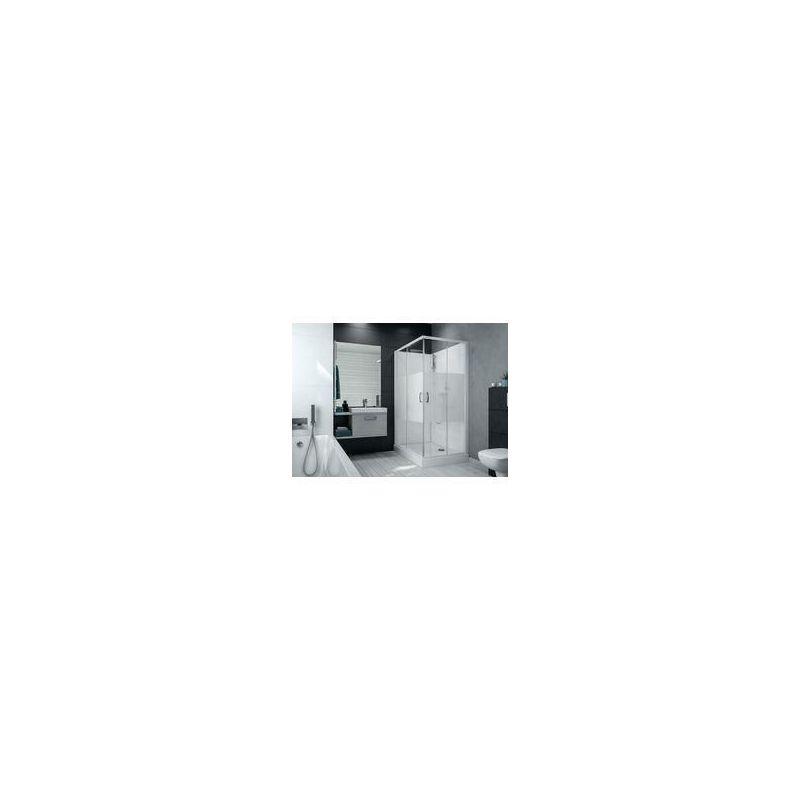 LEDA Cabine de douche IZI BOX 2 rectangulaire 100 x 80 cm angle portes coulissantes