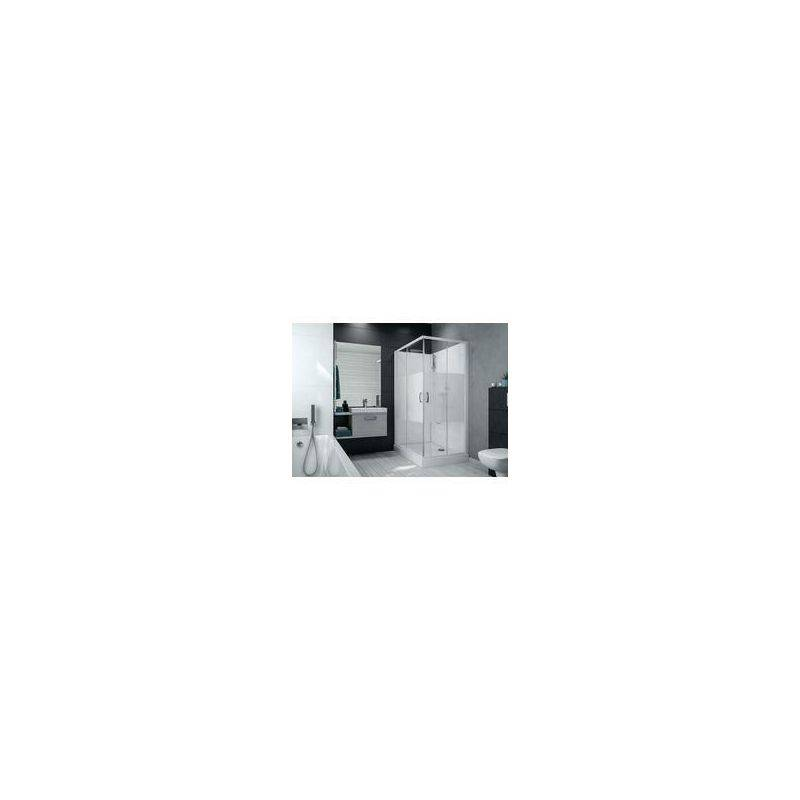 Leda - Cabine de douche IZI BOX 2 rectangulaire 100 x 80 cm angle portes