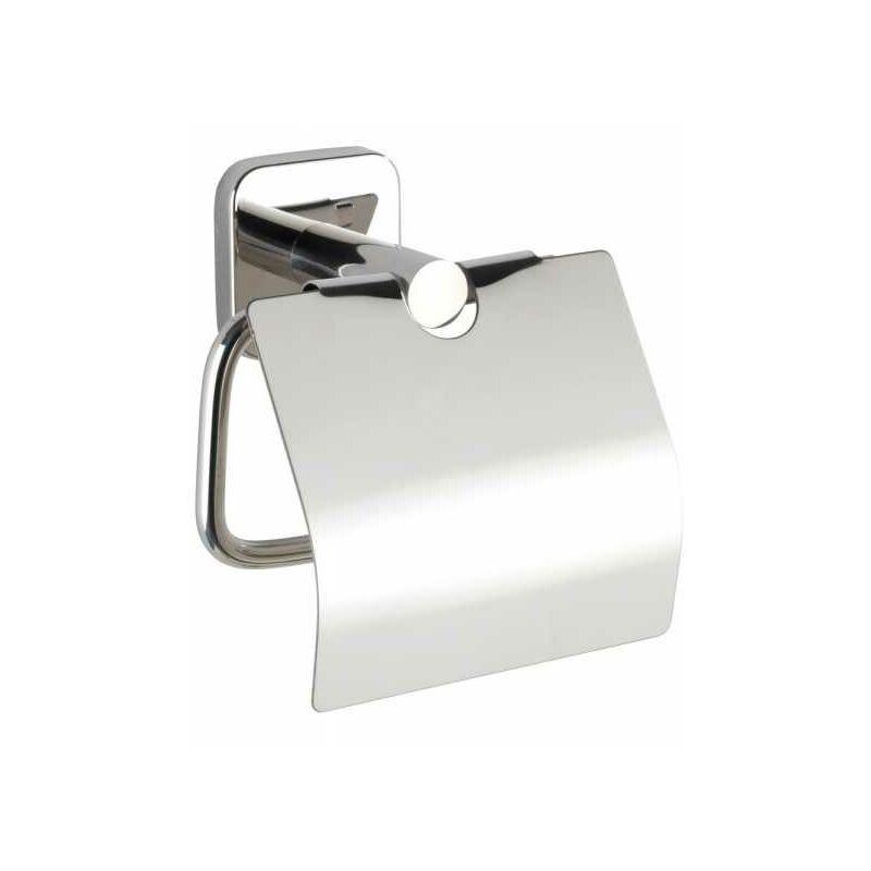 Wenko - Dérouleur papier WC avec couvercle Mezzano