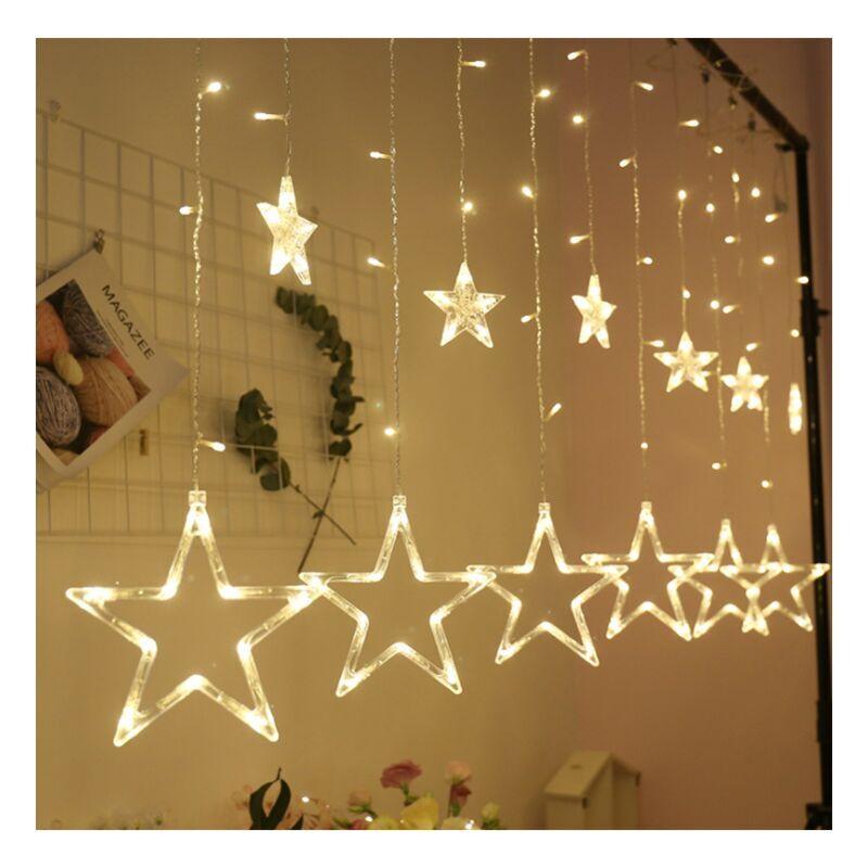 Ilovemono - Guirlandes lumineuses à LED, guirlandes en étoile, rideaux