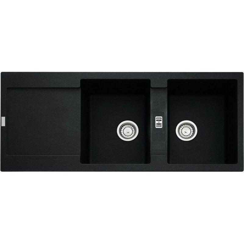 Franke - Evier MARIS FRAGANIT MRG621 Onyx (sous meuble 90cm) 1160x500x205mm