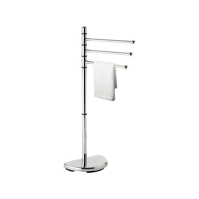 Gedy S.p.a. - Gedy Hibuscus - Porte-serviettes sur pied acier inox, 3 barre