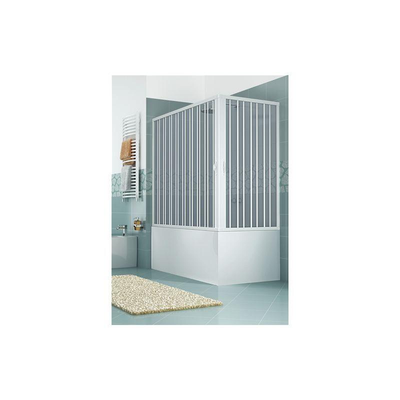 HDCASA Pare-baignoire en PVC, deux côtés, dim. 70 * 150 cm x H 150 cm, deux portes,