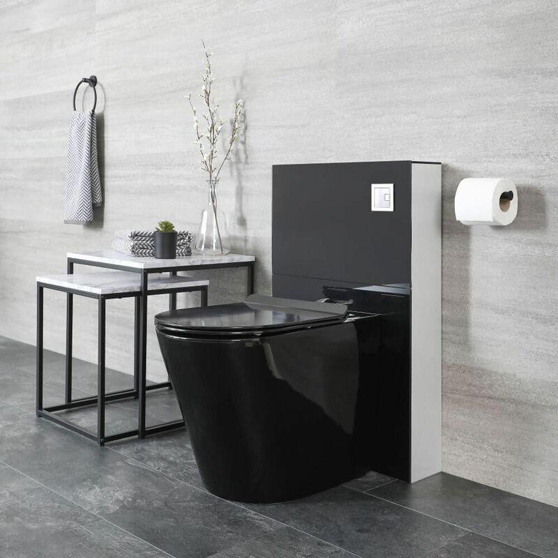 Hudson Reed Nox - WC à Poser avec Meuble Noir