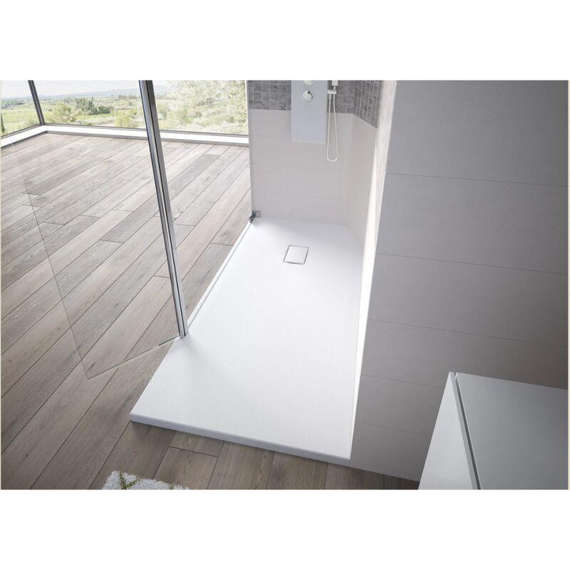 KINEDO Receveur de douche recoupable Kinesurf Pietra, 120 x 90, blanc - Blanc - Kinedo