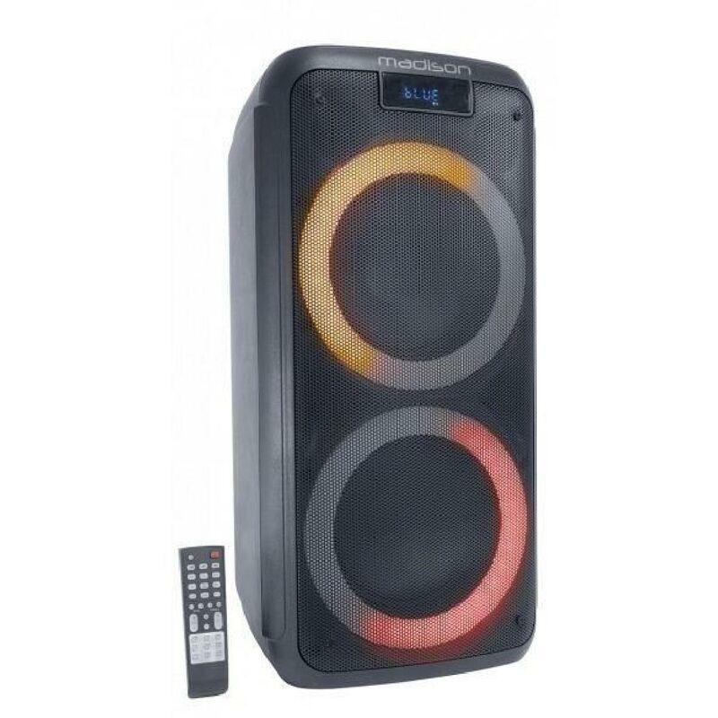 MADISON - ENCEINTE MAD-LUNA600 - 2 boomers - Lecteur USB. MicroSD. et Bluetooth