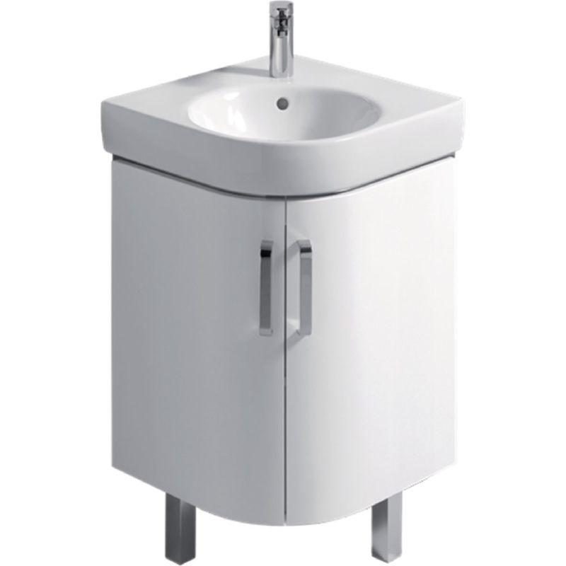 ALLIA Meuble Prima Style compact pour lave-mains d'angle de 50