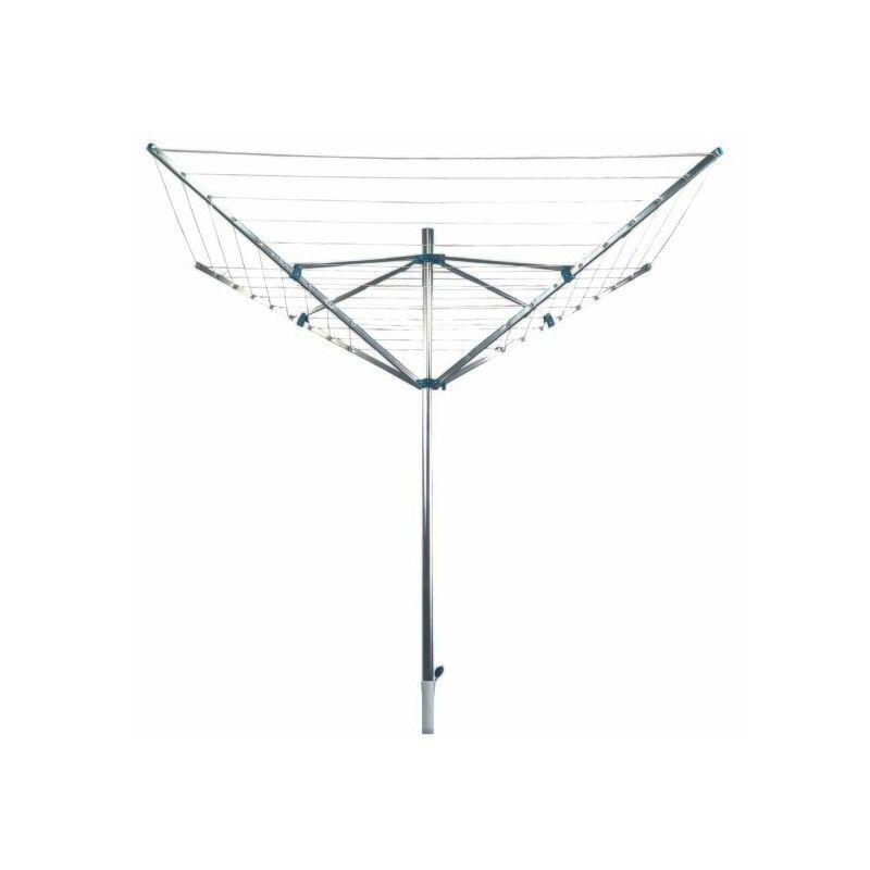 M S V MSV Sechoir d'exterieur Parapluie Alu avec pied 50m - Gris