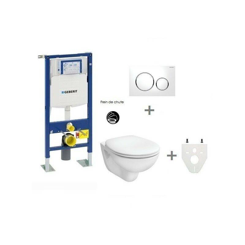 GEBERIT Pack WC suspendu Geberit autoportant   Sigma20 blanc/chromé brillant - Abattant