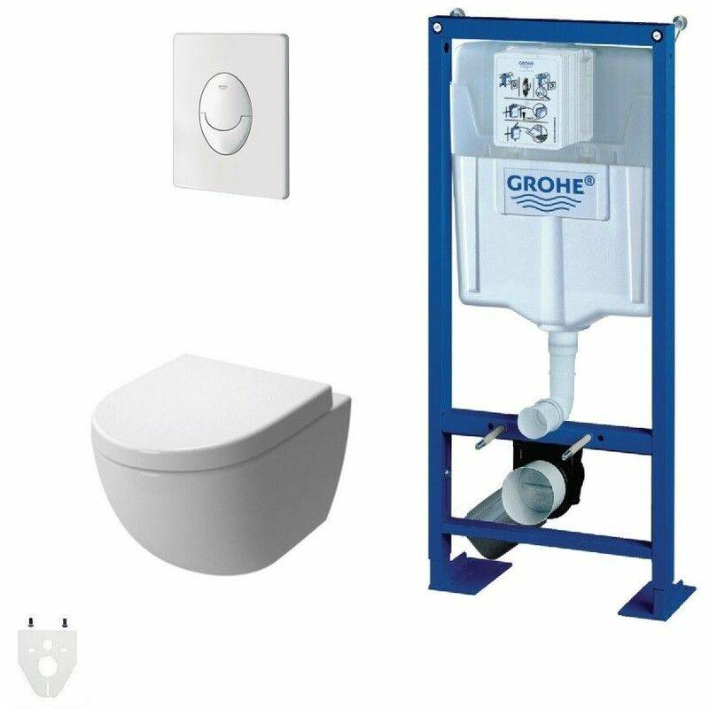 GROHE Pack Wc suspendu Grohe Autoportant Daily'o 2 courte