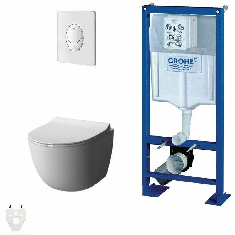 GROHE Pack Wc suspendu Grohe Daily'o sans bride