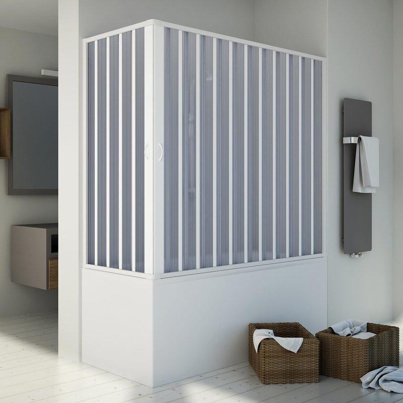 IDRALITE Pare baignoire 70x170CM H150 en Plastique pvc modèle Santorini avec l'ouverture