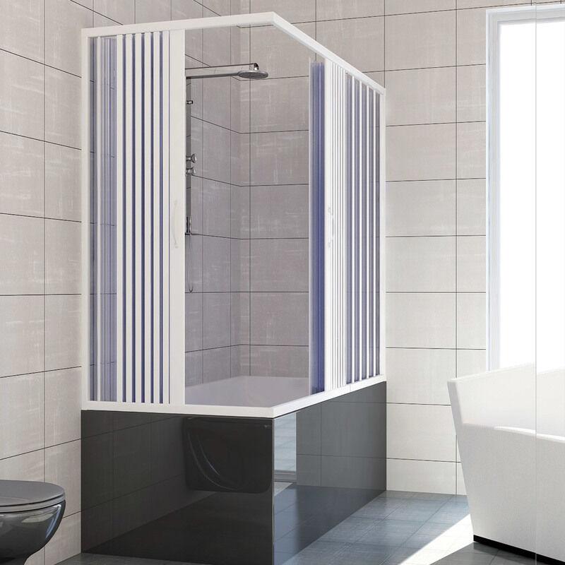 IDRALITE Pare baignoire douche en Plastique PVC mod. Nadia 70x170 cm avec ouverture
