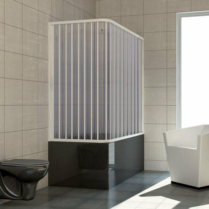 PINTO Pare-baignoire 2 côtés mod. Nadia 70x140 cm avec ouverture latérale à soufflet