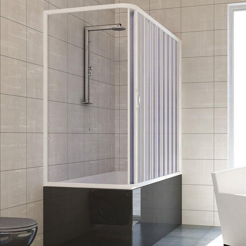 IDRALITE Pare baignoire douche en Plastique PVC mod. Nadia 70x140 cm avec ouverture