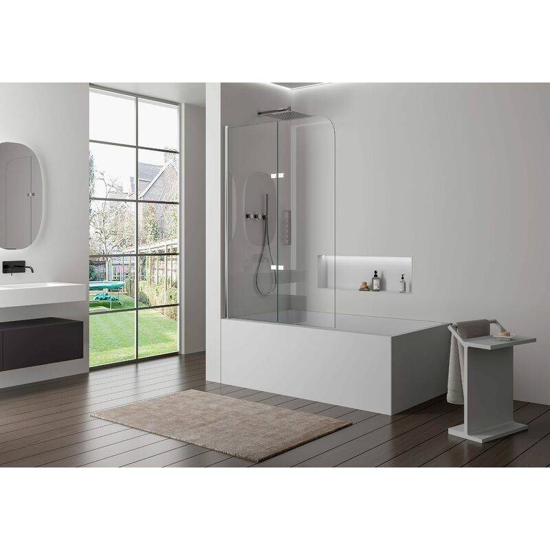 Bernstein - Pare baignoire en verre véritable NANO EX209 - 1200 x 1400 x 6 mm
