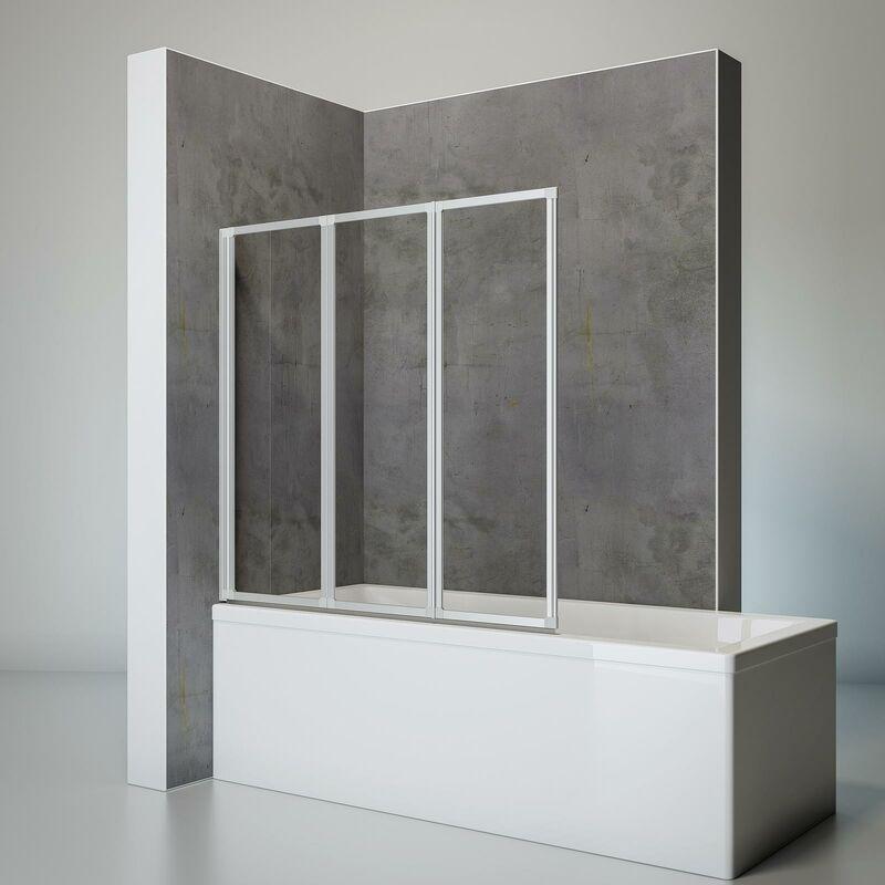 SCHULTE Pare-baignoire rabattable, sans percer, écran de baignoire pivotant à coller,