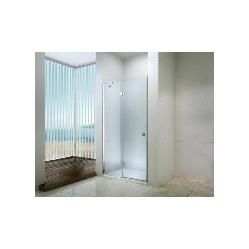 DEGEO Porte pivotante douche en verre trempé 120cm transparente Frisco - Transparent