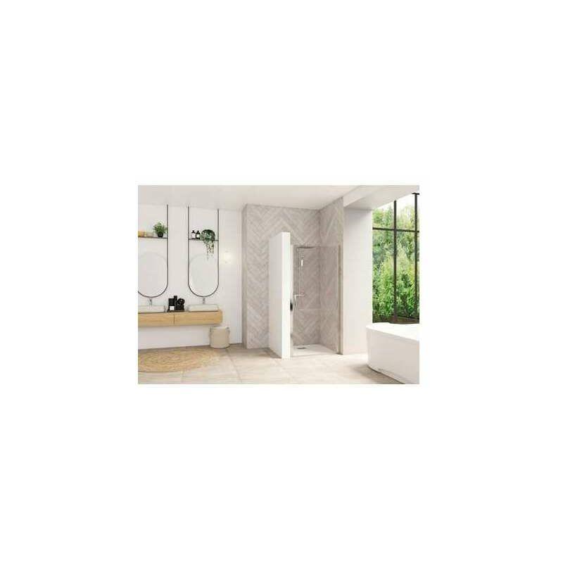 KINEDO Porte de douche pivotante Smart Design - Sans seuil Porte - Verre transparent