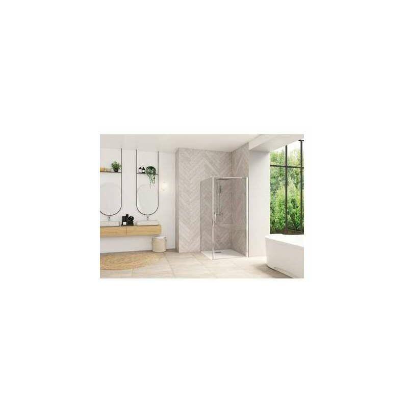 Kinedo - Porte montage angle Smart Design - Sans seuil - Verre transparent