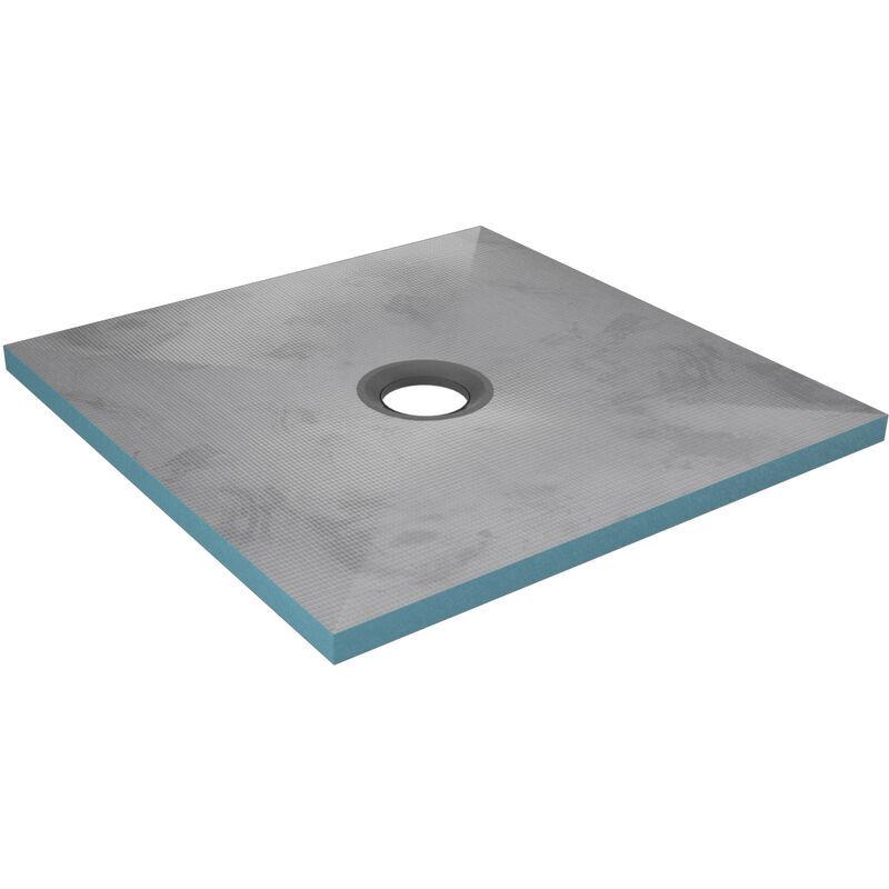 AURLANE Bac receveur de douche à carreler 90x90cm recoupable sur mesure RAINY 90 pour