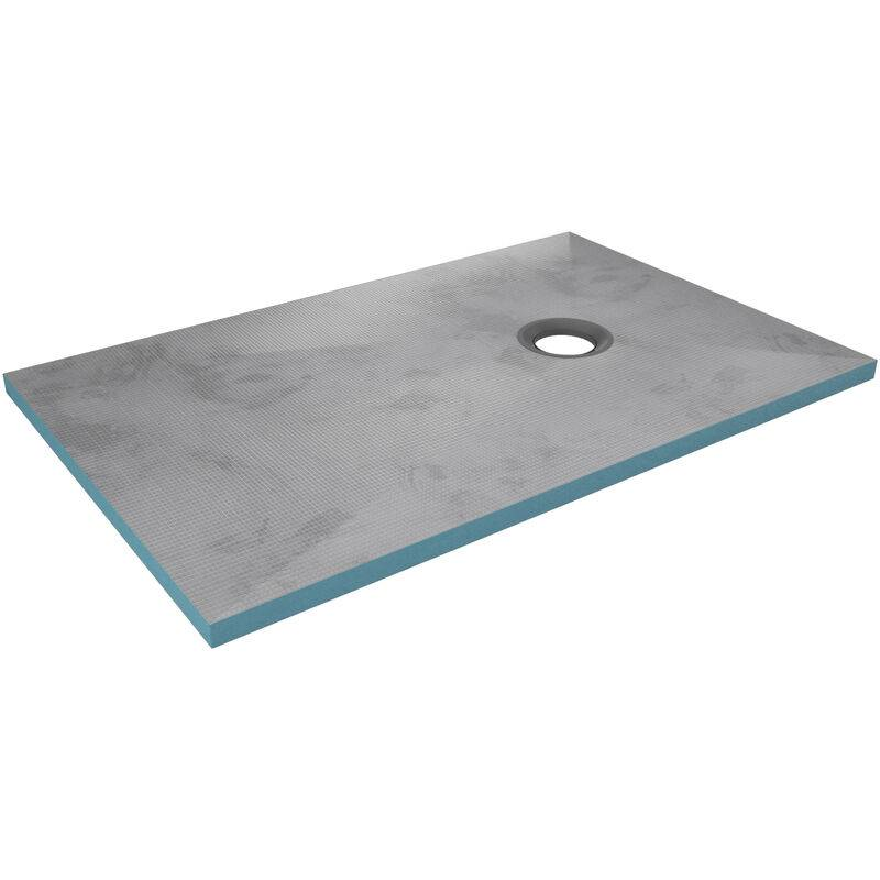 AURLANE Bac receveur de douche à carreler 140x90cm recoupable sur mesure pour douche à