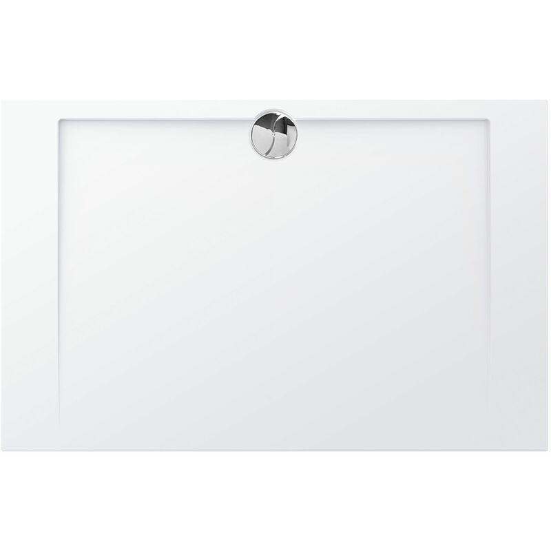 ALLIBERT Receveur de douche en polybéton SLIM 140 x 90 cm