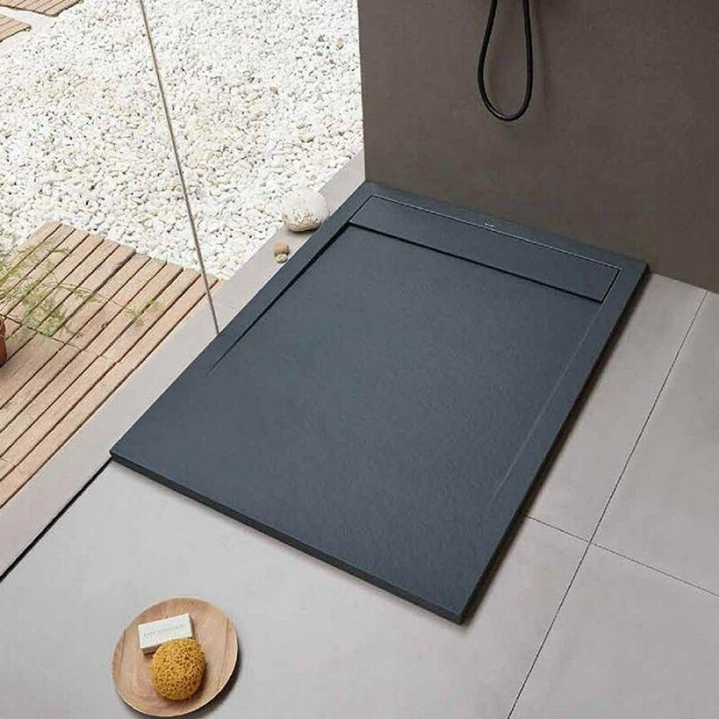 SANYCCES Receveur de douche Clever Anthracite - 140 x 90 cm