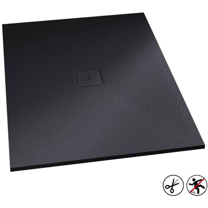 KINEDO Receveur douche Kinemoon, 140 x 90, gris anthracite, grille 3 - Kinedo