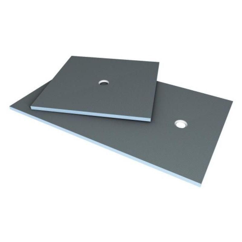Wedi - Receveur en polystyrène extrudé à carreler Primo 1200 x 900 mm à sortie