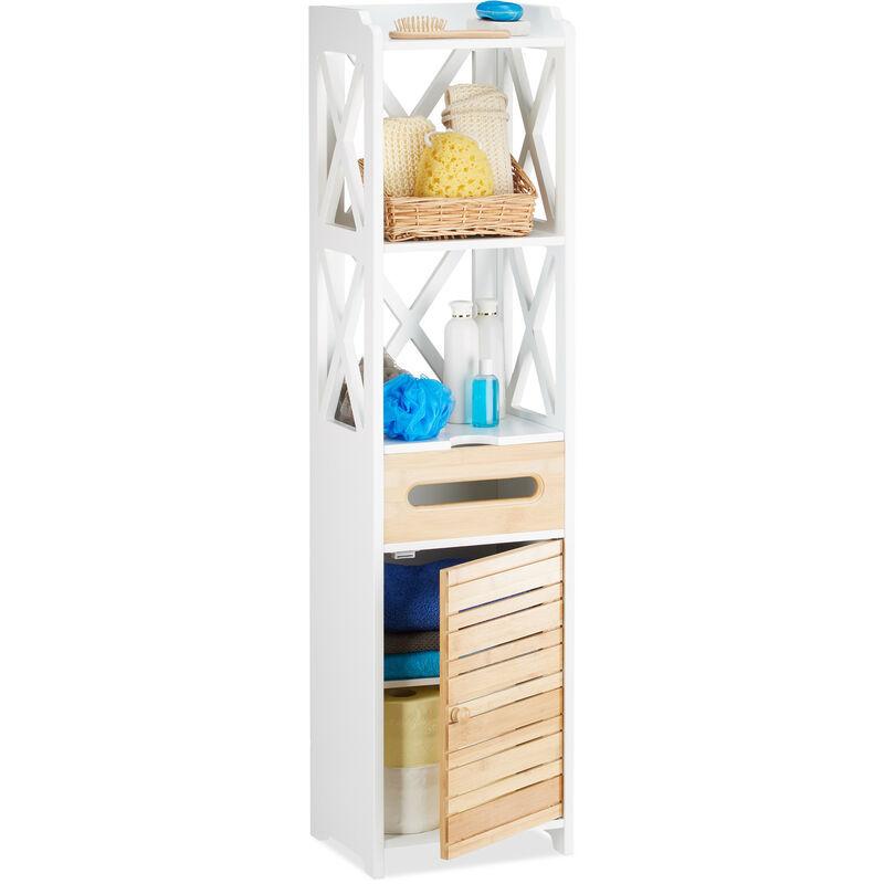 RELAXDAYS Armoire colonne de salle de bain ou cuisine 6 niveaux porte armoire étroite