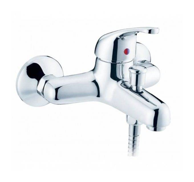 Robinet de baignoire mitigeur bain et douche mural en laiton chromé