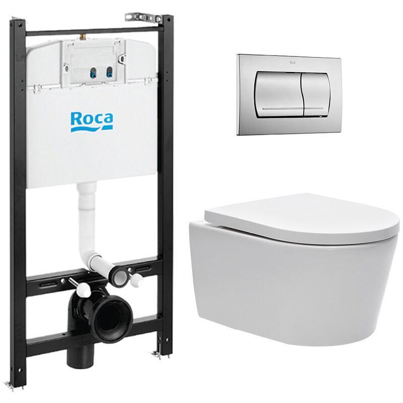 Roca Pack Bâti-support Roca Active + WC sans bride et fixations invisibles +