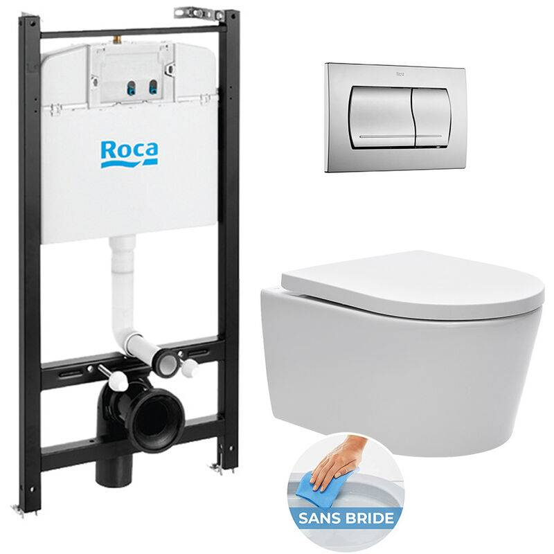 Roca Pack Bâti-support Roca Active + WC sans bride et fixations invisibles +