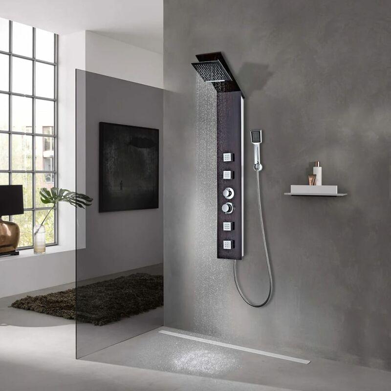 YOUTHUP Système de panneau de douche Verre Marron