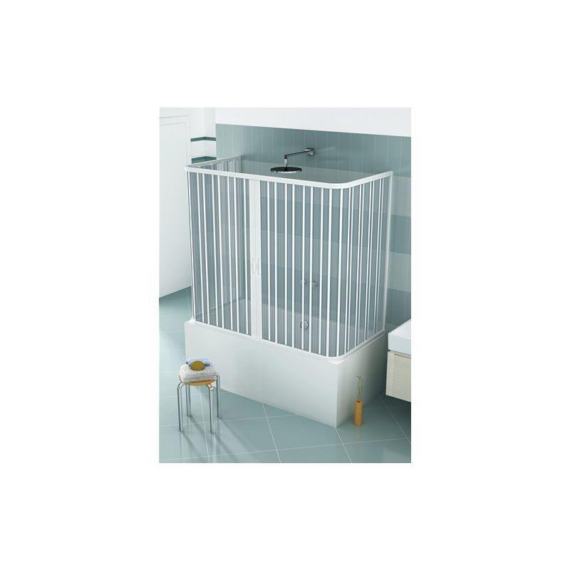 HDCASA Pare-baignoire en PVC, dim. 70 * 140 * 70 cm x H 150 cm, à trois côtés, deux