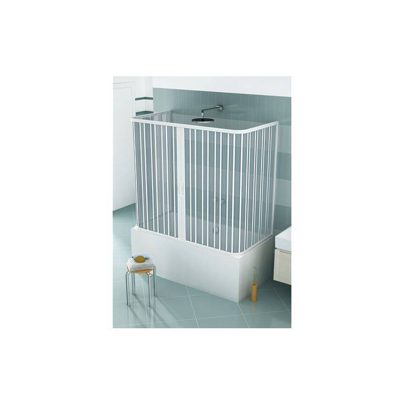 HDCASA Pare-baignoire en PVC, dim. 70 * 150 * 70 cm x H 150 cm, avec trois côtés, deux