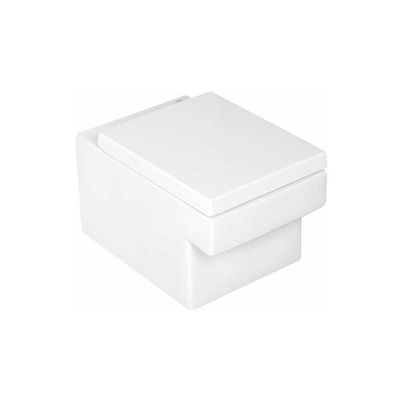 Grohe - WC suspendu à fond creux Cube Céramique, sans bord de rinçage