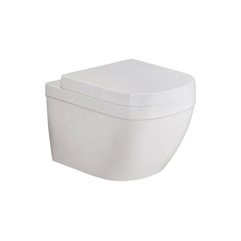 BANYO WC suspendu Grohe Euro blanc, sans bord de rincage lxpxh: 374x540x361mm